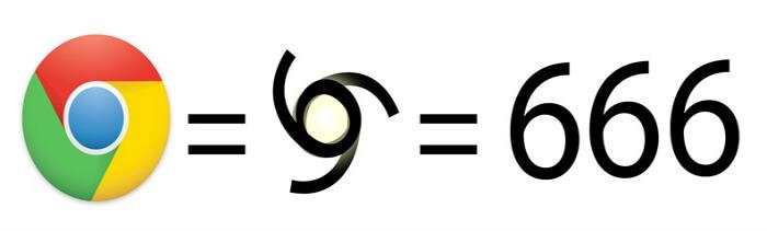 Google Chrome Logo Mocks Flat Earth With 666